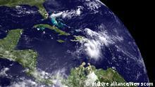 Tropical Storm Emily off the Coast of Haiti This NOAA Satellite image shows Tropical Storm Emily as it moves towards Haiti traveling northwestward across the Bahamas on August 3, 2011. UPI/NOAA Photo via Newscom picture alliance