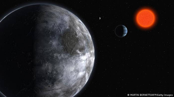 Bildergalerie Planeten Sonnensystem Gliese 581