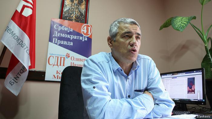 Portrait of Oliver Ivanovic, mayoral candidate for north Kosovska Mitrovica. Photo: Bojan Slavkovic