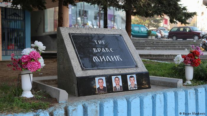 A memorial in North Mitrovica to ethnic Serbs killed in the Kosovan war. Photo: Bojan Slavkovic