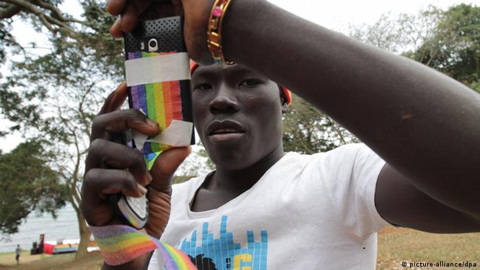 Homosexuelle Demonstration in Uganda (picture-alliance/dpa)