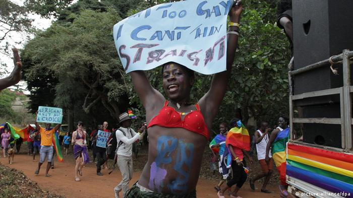 Homosexuelle Demonstration in Uganda