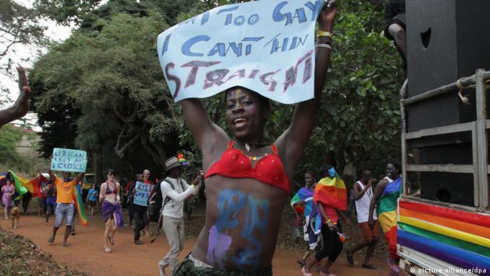 Homosexuelle Demonstration in Uganda (Foto: dpa)