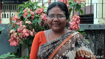 Ranchi, Indien Person: Dayamani Barla, Tribal Activist, Has won the Ellen L.Lutz Award for Cultural activism (Photo: Roma Rajpal-Weiß) DW/Roma Rajpal