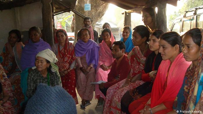 A Focus group discussion with women in Udayapur District, Nepal. (Photo credit: Prakash Koirala)