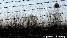Stacheldrahtzaun an der Grenze zwischen Türkei und Bulgarien