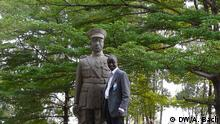 Bildinhalt: Denkmal für Charles Atangana in Yaoundé, Kamerun. Foto: DW/Aya Bach Datum: November 2012