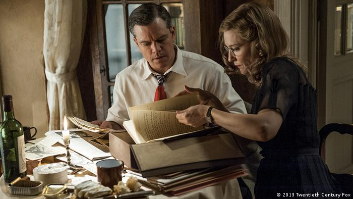 Matt Damon as a Monuments Men and Cate Blanchett as a French art historian in the upcoming Monuments Men film. Photo: 2013 Twentieth Century Fox