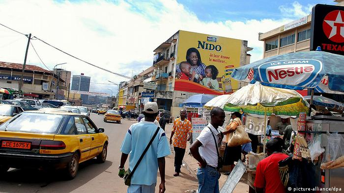 A large billboard adverstisement for Nestle products, on October 16, 2007 in Yaounde, Cameroon.