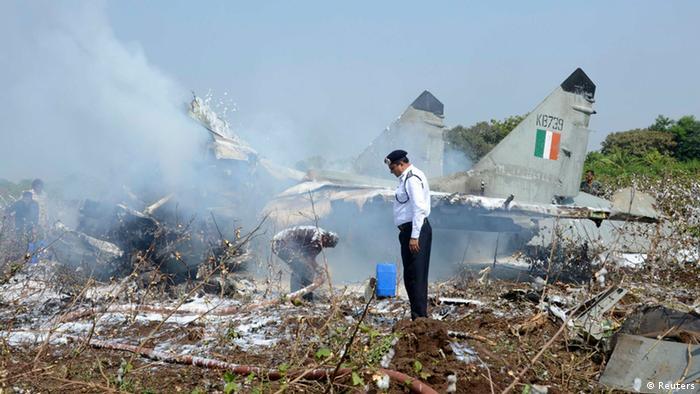 Indien Flugzeugabsturz bei Jamnagar