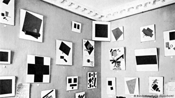 1914 Die Avantgarden im Kampf Ausstellung Bundeskunsthalle Ansicht der Werke Majakowskijs