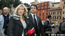 Italien Parteien Alessandra Mussolini mit Roberto Fiore von Forza Nuova