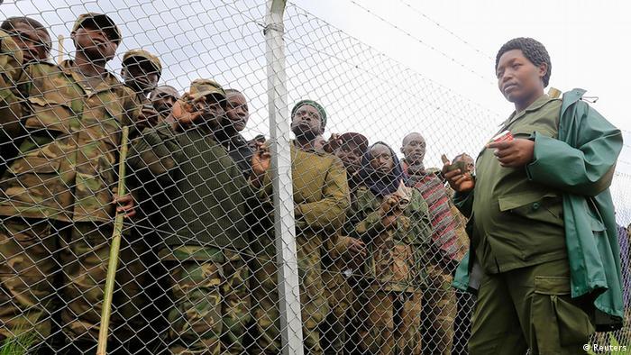 Kongo M23 Rebellen nach Uganda geflogen Internierungslager