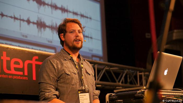 Ben Peters told DW at an electronic music conference in Amsterdam (Photo: Carl Nasman)