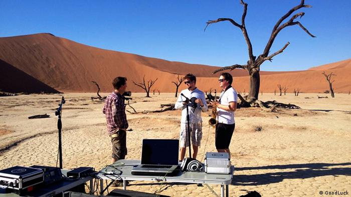GoodLuck's desert recording studio in Namibia (Photo: GoodLuck)