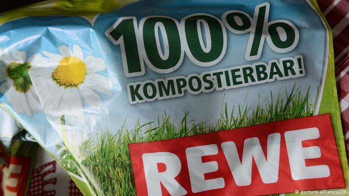 Bolsas de compra de bioplásticos.