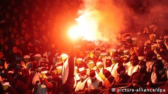 Hannover fans with fireworks (Photo: Revierfoto)