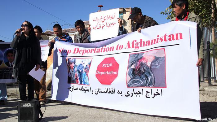 Afghanistan Proteste gegen Abschiebung