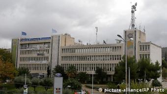 Greek state broadcaster ERT in Athens, Copyright: AP Photo/Thanassis Stavrakis