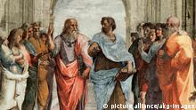 Platon und Aristoteles Gemälde von Raffael
