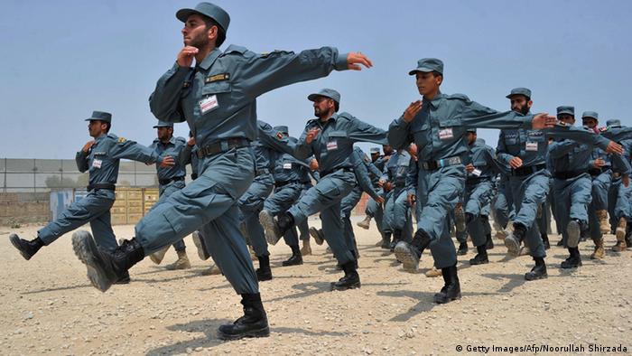 Kadetten der afghanische Nationalpolizei