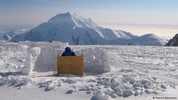 A loo in the snow on Mount Denali  (Photo: Patrick Baumann)