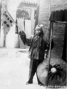 Ein Anhänger der Boxer-Bewegung um 1900(Copyright: public domain)