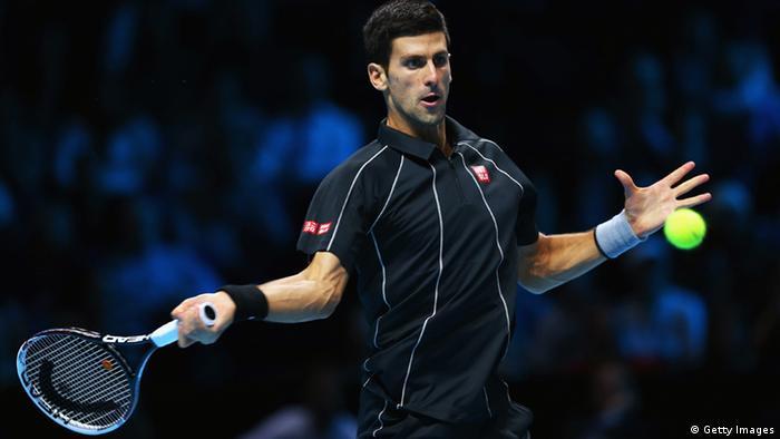 Finale der Tennis-WM in London (Novak Djokovic)
