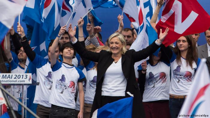 French National Front political party leader, Marine Le Pen, attends the party's traditional May Day rally in Paris EPA/IAN LANGSDON