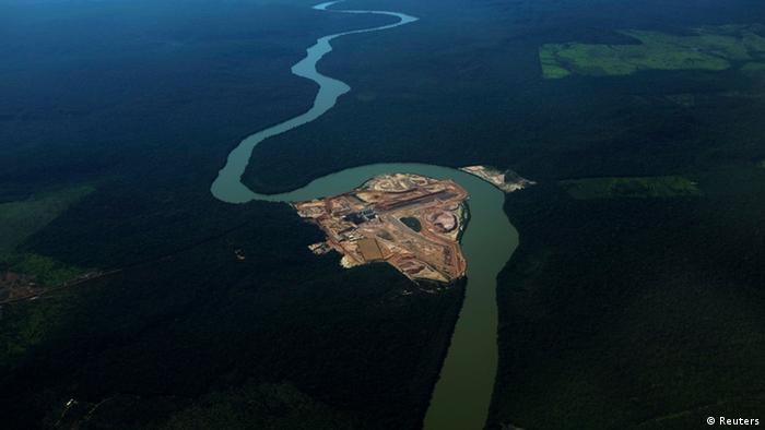 Obras de hidrelétrica na Amazônia