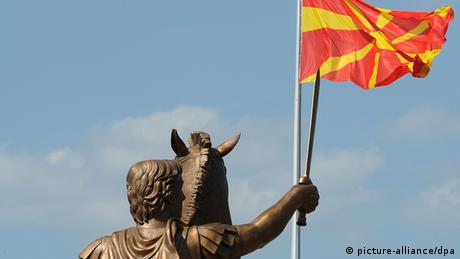 Mazedonien Denkmal Alexander der Große in Skopje (picture-alliance/dpa)