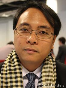 Yeb Saño, Delegationsleiter der Philippinen auf der Klimakonferenz in Warschau. Foto: DW/ A. Rönsberg.