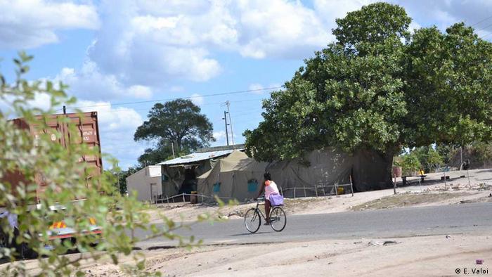 Camp des mosambikanischen Militärs