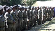 Ort: Quelimane, Mosambik Fotograf: Estácio Valoi Datum: 12.11.2013 Beschreibung: Polizisten in Quelimane, Mosambik am Tag der Polizei.