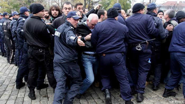 Antiregirungsproteste in Sofia am 12.11.2013