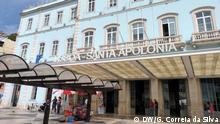 Santa Apolonia Bahnhof in Lissabon (Portugal). Am: 25.09.2013 in Lissabon, Portugal. copyright:DW/Guilherme Correia da Silva