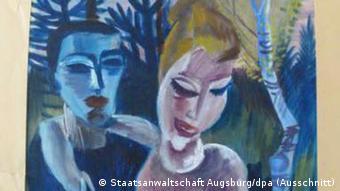Conrad Felixmueller, Paar in Landschaft (photo: Staatsanwaltschaft Augsburg/dpa)