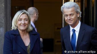Rechtsextreme Politiker Le Pen und Wilders Foto: picture-alliance/dpa