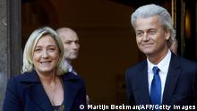 Marine Le Pen und Geert Wilders 13.11.2013 in Den Haag
