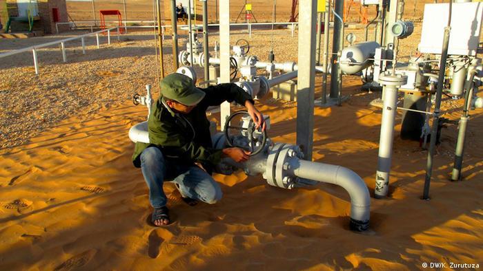 Libyen - Berber blockieren Gas und Ölförderplätze (DW/K. Zurutuza)