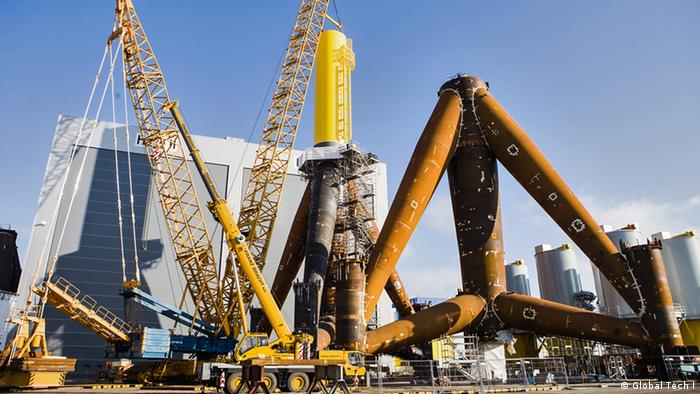 Offshore-Anlage in Bremerhaven (Foto: Global Tech I)