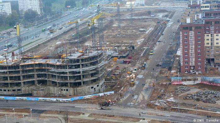 Одна из строек в Минске