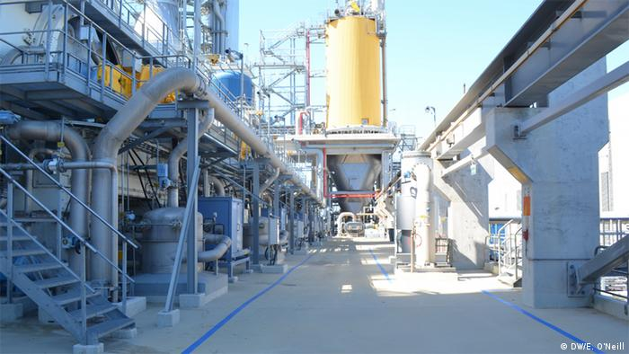 The UPM pulp mill produces 1.2 million tons of cellulose per year. (Photo: DW, Eilis O'Neill)