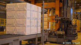 The UPM pulp mill uses trees to produce cellulose, a product used to produce paper. (Photo: DW, Eilis O'Neill)