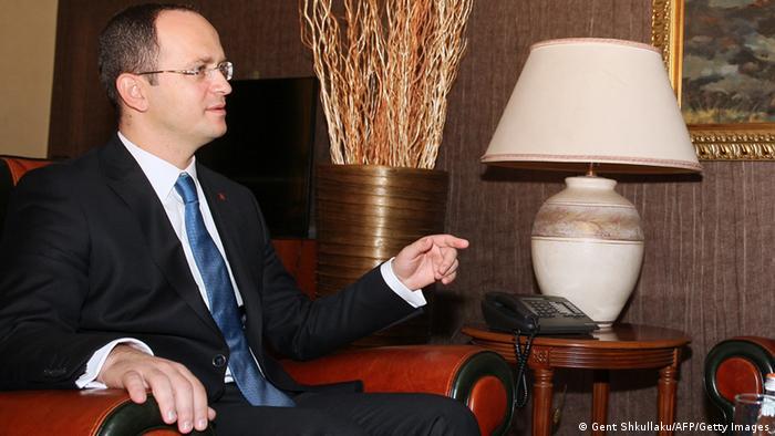 Ditmir Bushati Außenminister Albanien (Gent Shkullaku/AFP/Getty Images)