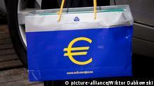 Einkaufstüte mit Euro Symbol