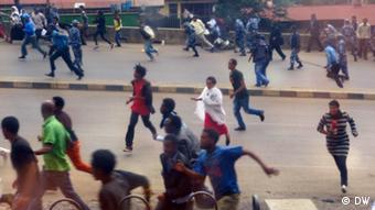 Äthiopien - Demonstration in Addis Abeba