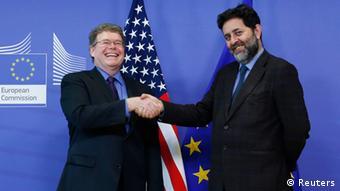 Unterhändler Ignacio Garcia Bercero von der EU und Dan Mullaney (links) -USA (Foto: Reuters)