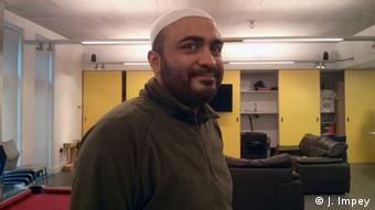 Abu Mumin in the Osmani Youth Centre, London. (Photo: DW / Joanna Impey)