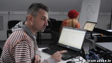 Roman Skrypin, ein der Initiatoren des Projekts Öffentlich-rechtliches Fernsehen in der Ukraine. Datum: unbekannt Ort: Kiew, Ukraine Tags: Öffentlich-rechtliches Fernsehen, Ukraine, Hromadske, TV, Kiew, Roman Skrypin (c) hromdske.tv